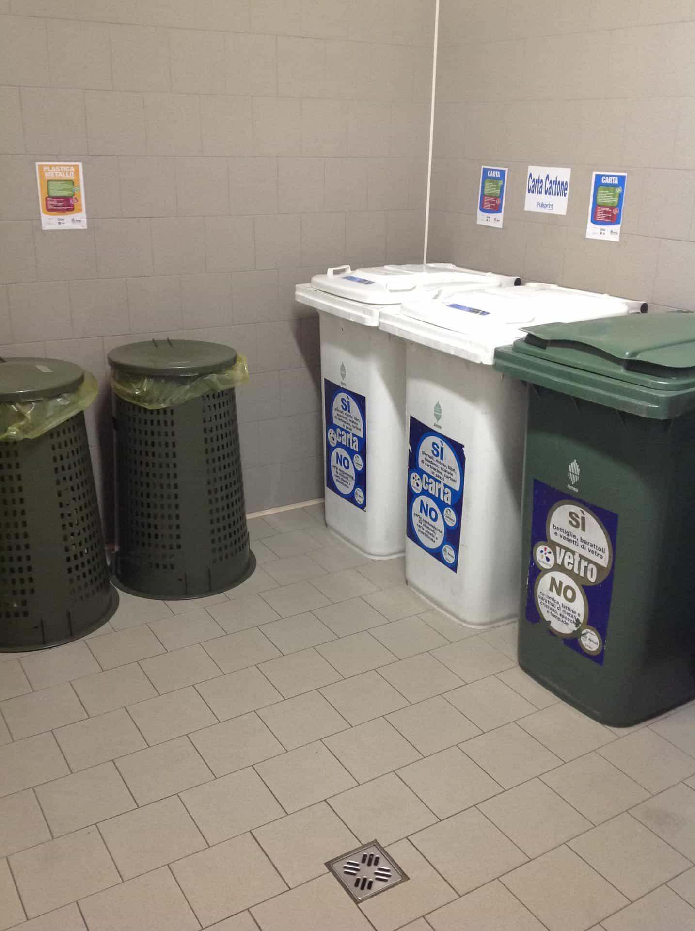 pulizia locali immondizia